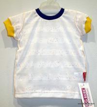 Бяла блуза с къс ръкав от меко трико цена 8,00лв. 1393934157