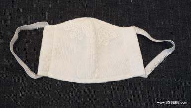 Бяла маска с памучна дантела цена 7,00лв. 1883810584