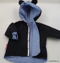 Тъмно синъо яке с  памучна  подплата и уши цена 25,00лв. 315007774