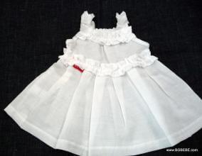 бяла рокля с презрамки цена 25,00лв. 1555655432