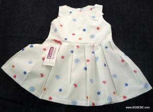 Бяла памучна  рокля с цветчета цена 25,00лв. 1307212753