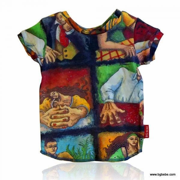 Блуза с авангардна щампа цена 10,00лв. 1576830091