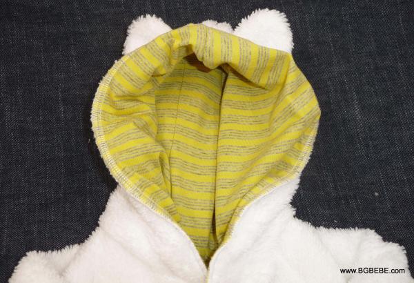 Пухкава жилетка с жълта подплата от трико цена 25,00лв. 692006292