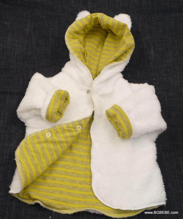 Пухкава жилетка с жълта подплата от трико цена 25,00лв. 950925653