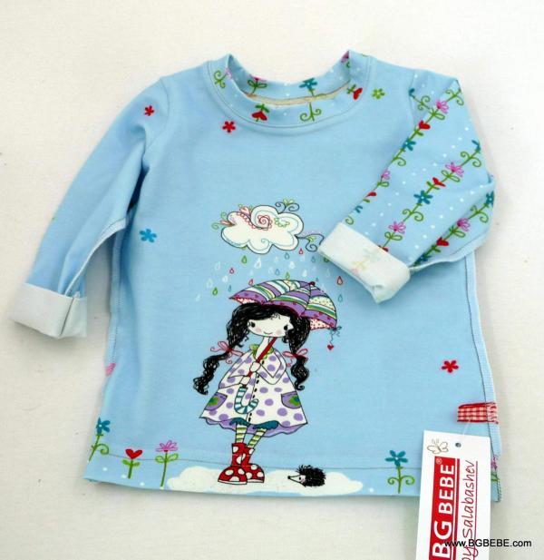 блуза с момиченце с  чадърче цена 10,00лв. 1634008804