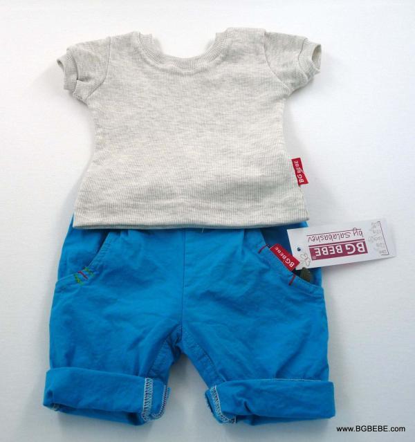 Комплект с блуза от памучен рипс цена 25,00лв. 332446845